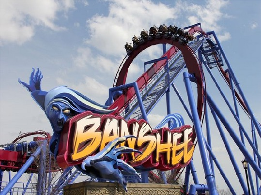Banshee Roller Coaster at Kings Island